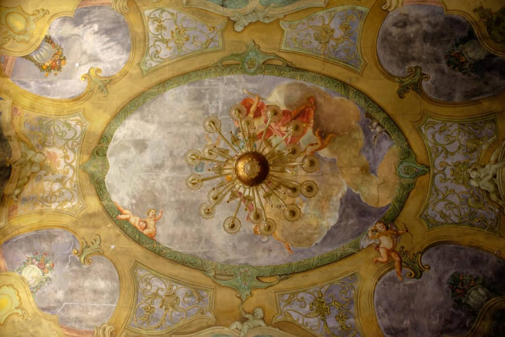 Detail of the ceiling fresco - Ca' Affresco 1 Apartment