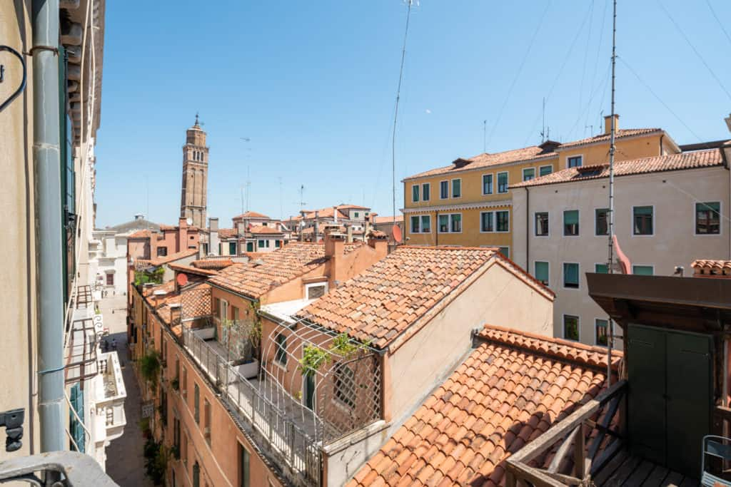 Panoramic view of the Venetian roofs - Ca' Coriandolo Apartment