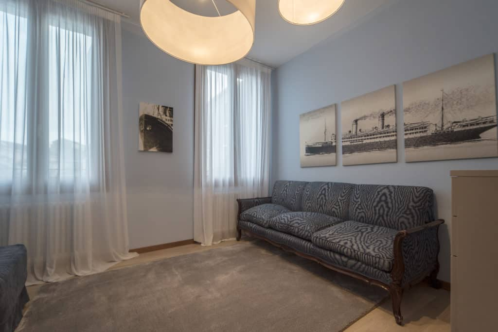 Small living room with sofa bed - Ca' del Capitano Apartment