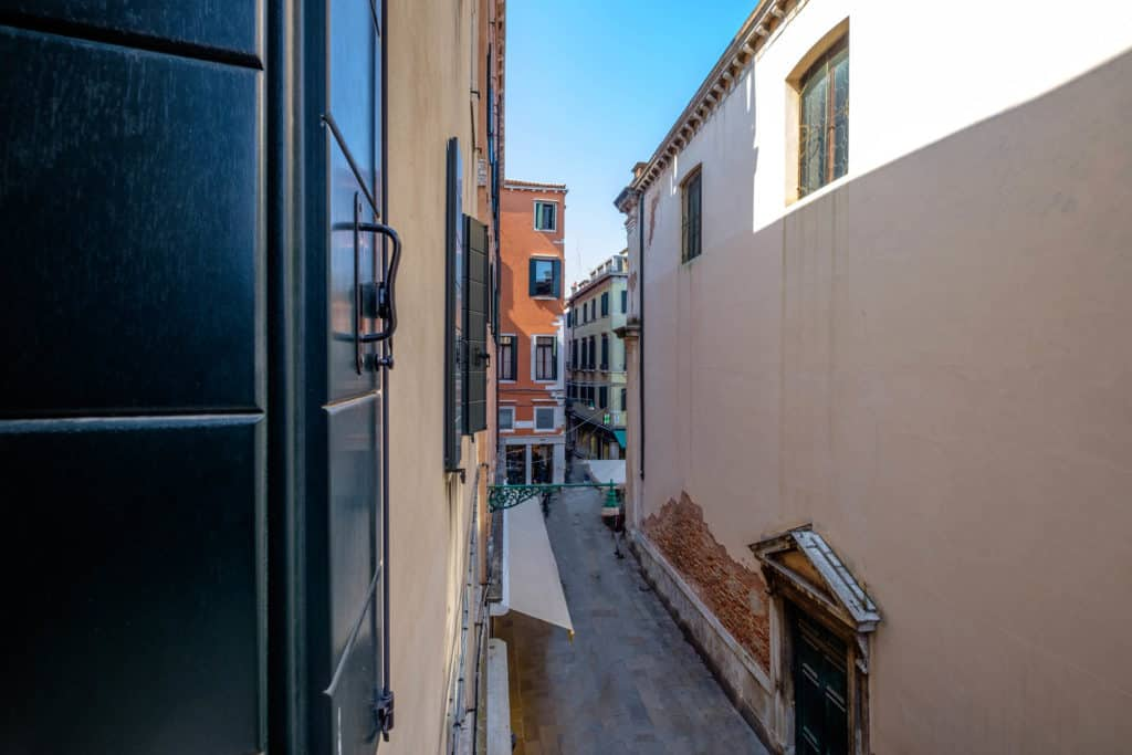 Panoramic left view of the street from the window - The Lion's 5 Apartment