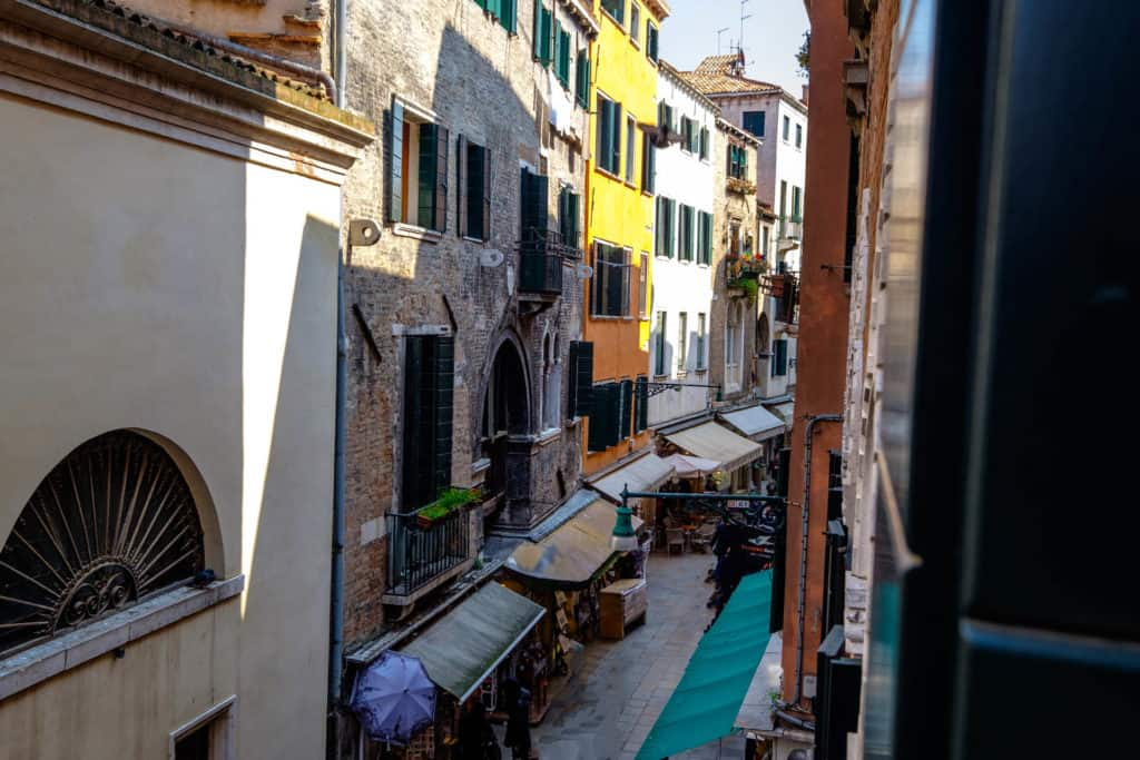 Panoramic right view of the street from the window - The Lion's 5 Apartment