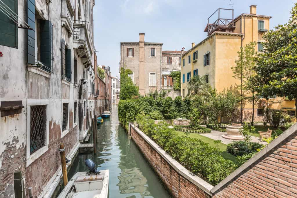 Street view with garden - The Venetian Penthouse Apartment