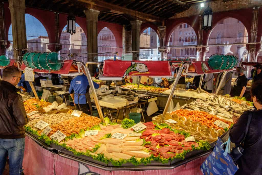 Rialto fish market on the Grand Canal - Authentic Venetian Experience